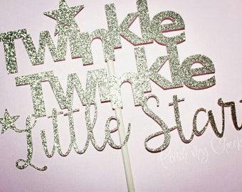 Twinkle Twinkle Cake Topper. Twinkle Twinkle Centerpiece. Twinkle Twinkle Little Star. First Birthday. Boy or Girl. 1st Birthday.