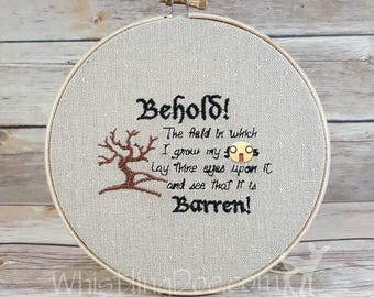 Barren Fields Embroidered Hoop Art