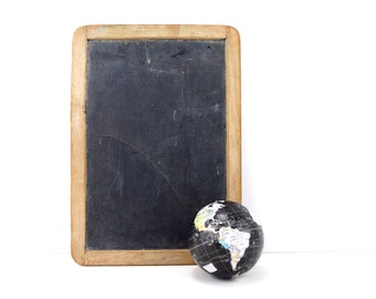 Vintage Real Slate Chalkboard / Blackboard, Double-sided, 10 x 14 inches (c.1910s) - Slate Memo Board, Inspiration or Menu Board