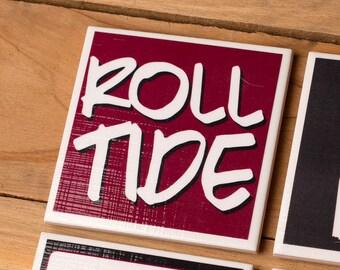 4 Alabama Crimson Tide Coasters