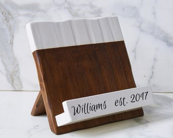 Personalized Wood Cookbook Holder