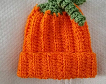 Crochet Infant Baby Pumpkin Hat Pattern Only