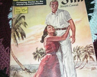 Vintage Classic Illustrated Comic 60's Era LORD JIM No. 136 of series Story by Joseph Conrad
