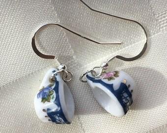 Simplicity Mini Porcelain Tea Cup (teacup) Earrings