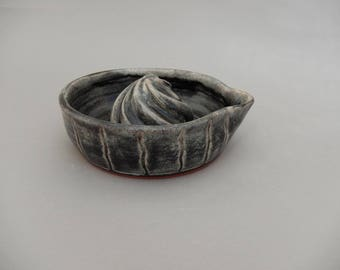 Pottery Lemon Juicer - Handmade - Charcoal Gray