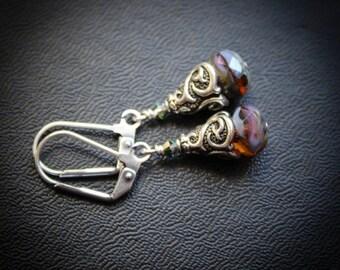 Elegant Everyday Earrings. Arabesque Drops.