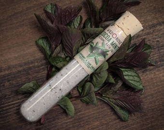 Bath Salts Natural Epsom COCOAMINT Oregon Peppermint + Dark Chocolate - 1.6oz Test Tube