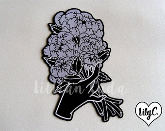 Peony Bouquet Back Patch