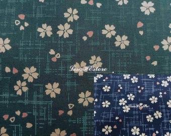 Cherry blossom and lines, 1/2 yard, pure cotton fabric