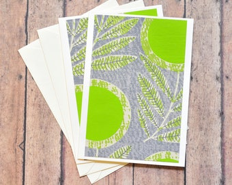SALE-Green Floral Note Card // Blank Card // Thank You Card // Birthday Card // Just Because // Thinking of You // A6
