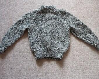 Mottled handknit monochrome sweater child 4 - 5 yrs