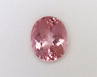 Mozambique Morganite Gemstone, Oval faceted, Very High Quality Natural Loose Gemstone