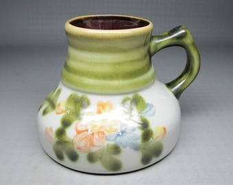 vintage Louisville Stoneware Country Flowers travel coffee mug