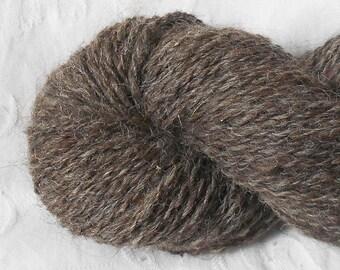 Handspun Dark Gray Llama Yarn