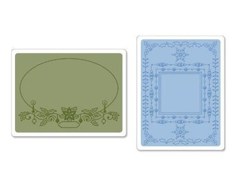 Sizzix HOLIDAY FRAMES SET of Embossing Folders - 657980