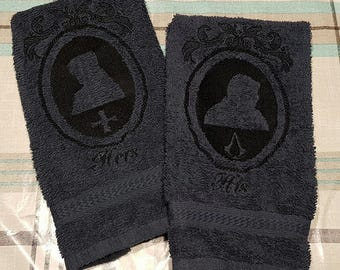 His & Hers Arno and Élise guest towels set