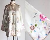 Vintage Kyoto Spring Silk Tunic Kimono
