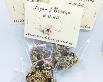25 Bird Seed Favors - MINI bird seed cakes in cello bags and personalized