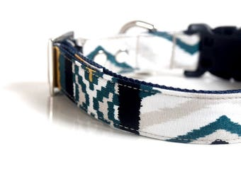 IKAT Dog Collar - green, yellow, black