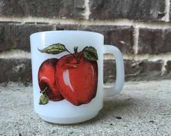Glasbake Mug with Apples