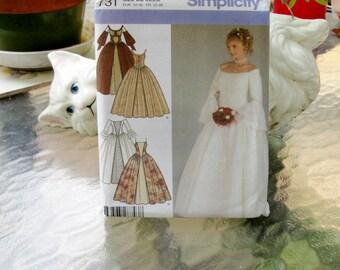 Simplicity 4731 Adult Historical/Medieval/Renaissance Costume sz 4-10 Uncut