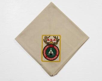 Vintage BSA National Camping School Neckerchief 1970s NOS Boy Scouts of America Bandana