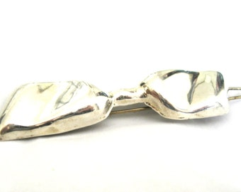 Hair Barrette Mexican Sterling Silver Bow