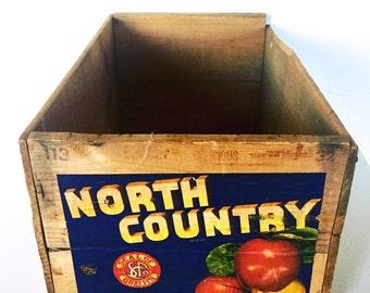 Vintage Wooden Advertisement Crate