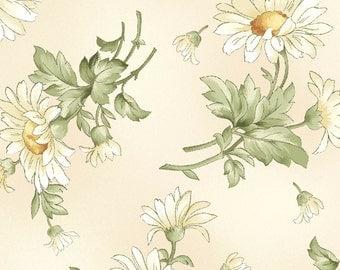 Gentle Breeze - Tossed Daisies Cream by Jan Douglas from Maywood Studio