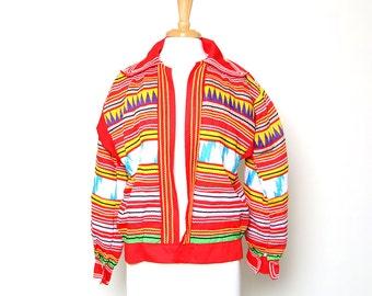 Vintage 60s 70s Native American Seminole Hand Sewn Patchwork Jacket
