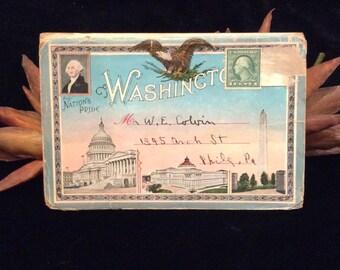 Vintage Souvenir Folder Our Nations Pride Washington DC, Vintage Collectibles, Vintage Paper, The United States Capitol