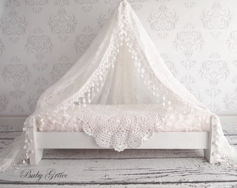 Newborn Lace Canopy, Newborn Photo Prop, Newborn Girl Vintage Prop, Photography Props, Newborn Lace Basket Filler, Maternity Wrap, Lace Tent