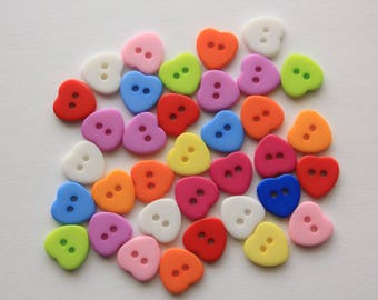 Heart Buttons - 12 Count