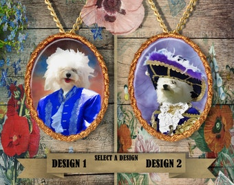 Bolognese Jewelry/Bichon Bolognese/ Bolognese Pendant or Brooch/Bolognese Necklace/Dog Handmade Jewelry/Custom Dog Jewelry by Nobility Dogs