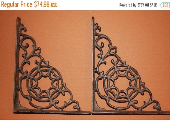 13% OFF 8 Web Shelf Brackets Cast Iron Brackets By RUNNINGTIDE