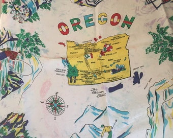 Vintage 1960's Oregon State Scarf