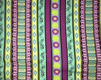 Purple stripe fabric by the Yard