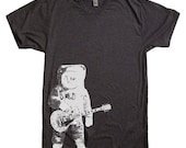 ON SALE Astronaut and Guitar T Shirt - Guitar Tshirt - Music Shirt Gift for Guitar Player - Space Shirt Astronaut Tee Gift Idea Present For