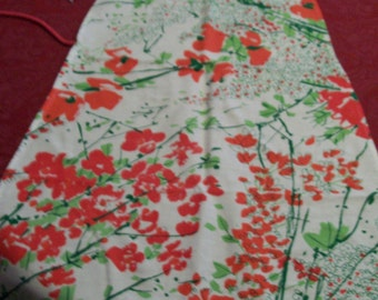 """Vintage Vera Apron Colorful Red Floral by Vera Hostess Apron Colorful Red Green White Full Apron """"Things to Cook in"""""""