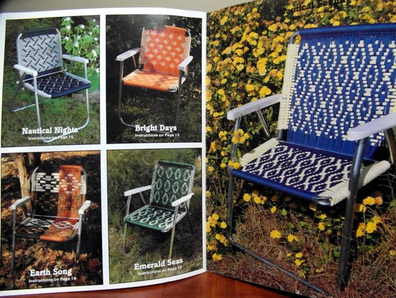 Macrame Lawn Chairs Pattern Instruction Book Cording
