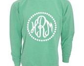 Monogrammed Comfort Colors Sweatshirt