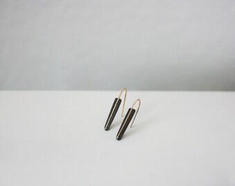 Triangle Dangling Earrings – Black