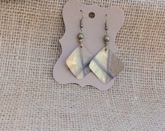 Curved Brass Form Fold Earrings, Fold Form Earrings, Boho Style Earrings
