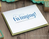 Twinning! Double the Fun, Pregnancy, Newborn Congratulations Announcement Greeting Card for Parents