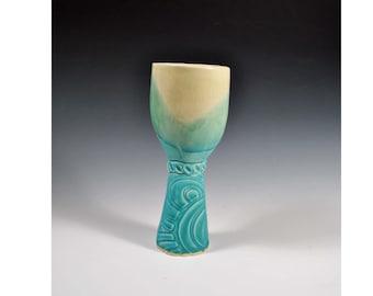 Handmade Ceramic Wine Goblet, Wine Chalice, Beer Goblet