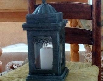 Miniature dollhouse country lantern