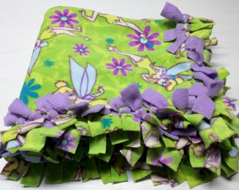 Hand Tied Double Fleece TinkerBell Blanket