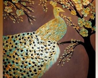 "SALE XL Oil Landscape painting Abstract Original Modern 36"" palette knife oil  impasto oil painting by Nicolette Vaughan Horner"