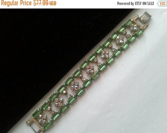 Now On Sale Vintage Rhinestone Bracelet * 1950's 1960's High End Quality Bracelet * Old Hollywood Glamour Art Deco Jewelry