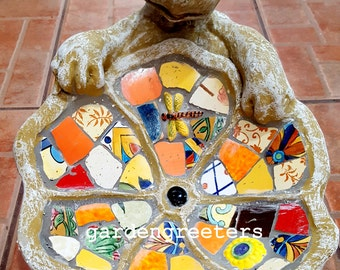 Mosaic Turtle Birdfeeder Mosaic Turtle Birdbath-rd